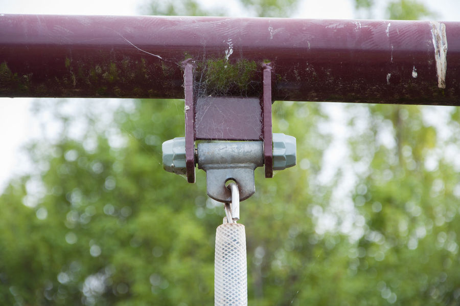 Playground swing Hinge Playground Equipment Playground Swing Close-up Metal Playground Swing
