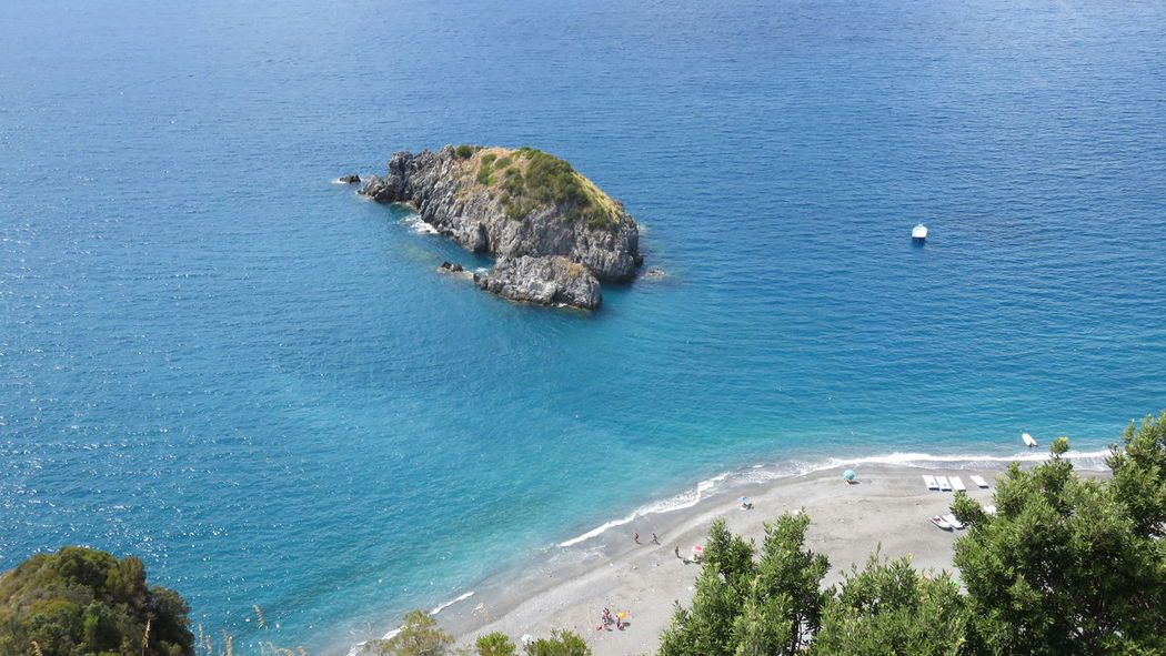 beach view from san nicola Arcella Arcomagno Beauty In Nature Blue Boat Calabria (Italy) Cliff Day Dino Excursions Gulf High Angle View Holiday Island Nature Outdoors Policastro Praia A Mare Scenics Sea Tourism Tranquil Scene Tranquility Turquoise Water Vacations Water