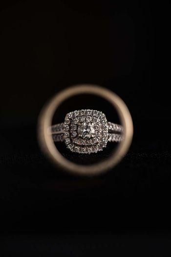 Circle Close-up Black Background Macro Wedding Wedding Ring