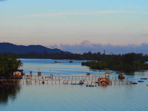 Riverside Water Nature Scenics Sky Beauty In Nature Tranquility Reflection Tranquil Scene Travel Destinations No People Day River View Beauty In Nature Beautiful Nature Awesome Cloud - Sky From The Bridge Fishermanvillage Village Blue Mengkabong River Photography