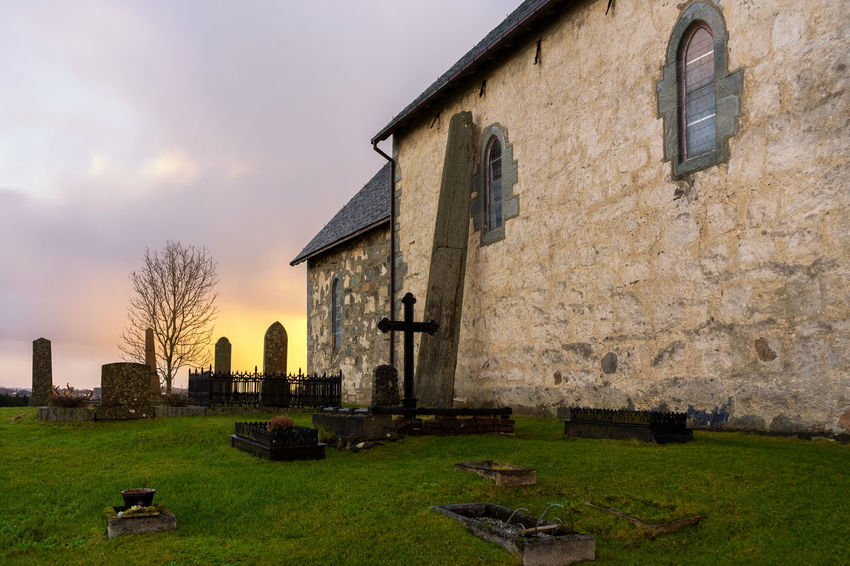 Olavs church, Avaldsnes, Norway Christianity Church King Norway Sunset_collection Architecture Building Exterior Built Structure Church Architecture History Medieval Medieval Architecture Old Buildings Old Church Outdoors Standing Stones Sunset Viking