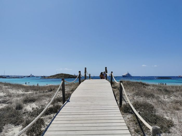 Scenic view of beach, formentera