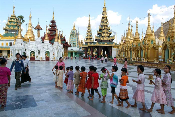 Pagoda Yangon Burma Myanmar Shwedagon