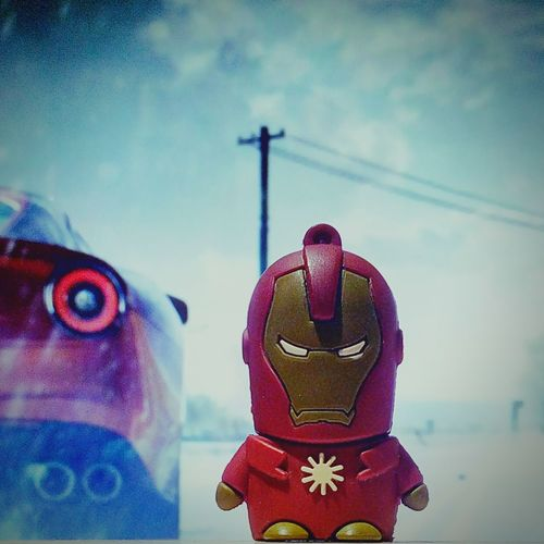 My Tiny Iron Man.... My Tiny Iron-man Ironman Tiny Pen Drive USB Marvel EyeEm Selects Only Men Superhero Avengers Suit Tonystark Red Adult Adults Only People One Person Sport Outdoors Close-up Day Sky Mobility In Mega Cities