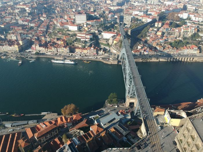 Ponte D. Luís I - Porto, Portugal 2017 DJI X Eyeem Aerial View Architecture Bridge - Man Made Structure Building Exterior Built Structure City Cityscape Day High Angle View Industry Nature Nautical Vessel No People Outdoors Residential Building Sea Transportation Water