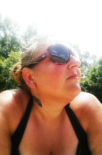 Just me!! Tanning ☀ Soakingupthesun Riverside Selfie Portrait Reflection Filtered Image Hanging Out Taking Photos That's Me Hi! Homochitta River, Mississippi Mississippi