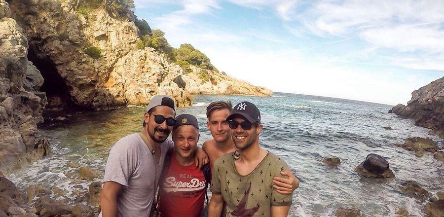 Calaratjada Mallorca Palma De Mallorca Bike Friends Enjoying The Sun Sun Holiday