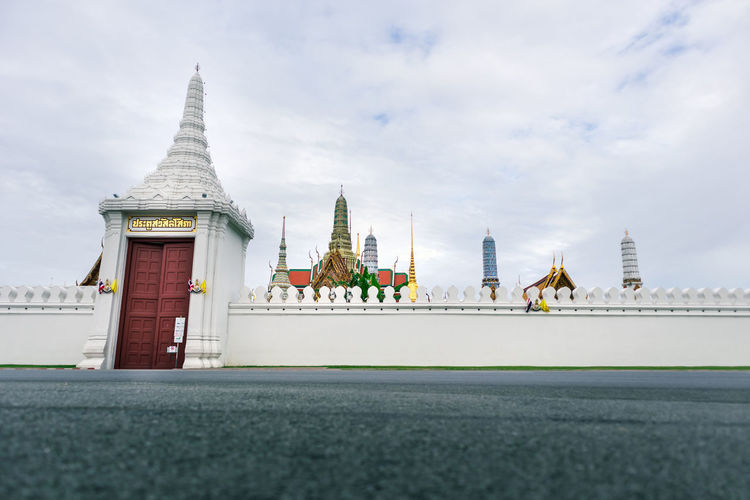 Wat phra kaew. the place is regarded as most sacred buddhist temple in thailand. tourist destination