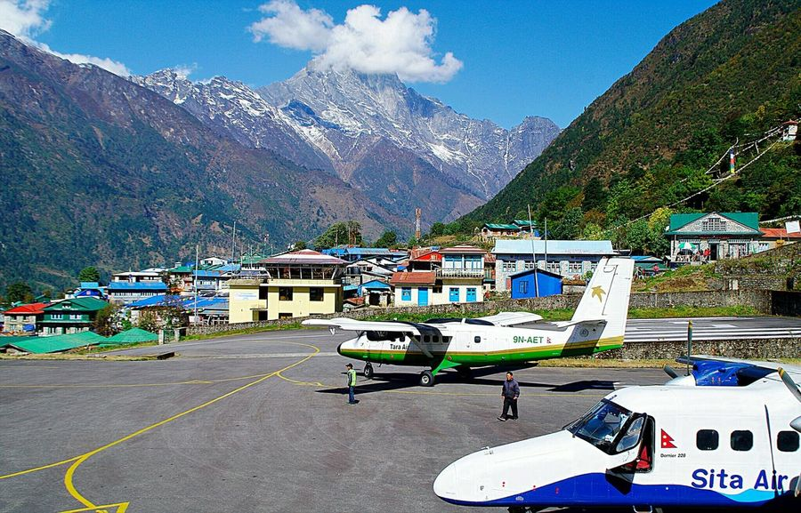 In The Terminal Details Of My Life Lukla Nepal Airplane Airport