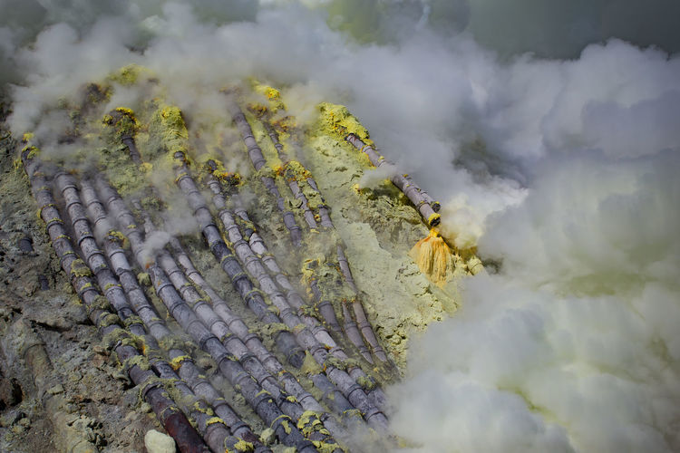 Smoke - Physical Structure Beauty In Nature Mountain Geology Nature Day No People Volcano Non-urban Scene Plant Heat - Temperature Environment Land Scenics - Nature Tree Forest Fire Outdoors Landscape Tranquil Scene Physical Geography Power In Nature Pollution Air Pollution Volcanic Crater