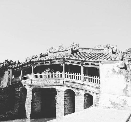 Faifo Hoian  Bridge Photoofday Middle Vietnam Ancient Town Today