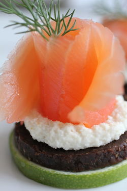 Canapé Fisch Fish Food Food And Drink Lachs Organic Sweet Food Table