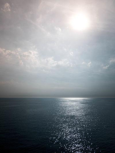Sky Water Sea Scenics - Nature Horizon Over Water Horizon Sun Idyllic Seascape Sunlight Cloud - Sky Beauty In Nature Editing Presetslightroom Photo Editing Fun Photo Editing Sunset Different Light