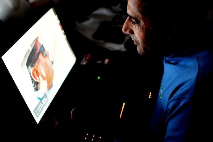 Indian man makes review of his photos on the laptop Man Portrait Photo Editor Close-up Discover Photo Discoverable Indoors  Looking On Lapto Low Light Photography One Man Only One Person People Photo Editing Photo Fun Photo Maniac  Photo Preview Photo Software Real People Search Portrait