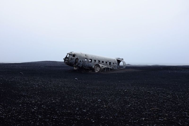View of planewreck