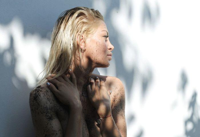 Scrub Perfect Skin Summer Skin Skin Wet Hair Natural Natural Skin Beautiful Skin Skin Care Products Cosmetic