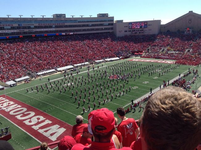 First ever badger game!!!! Collegefootball Bucky Badger Madison Collge