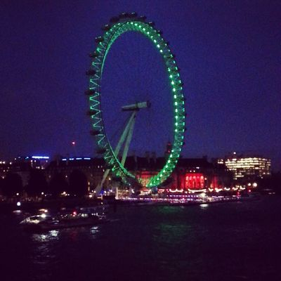 London at night LondonEye Theriverthames Goldenjubileebridge Uk london home