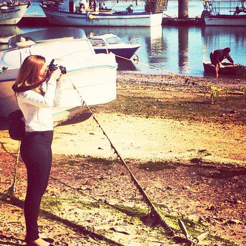 Fishermen Taking Photos Enjoying Life Portugaloteuolhar