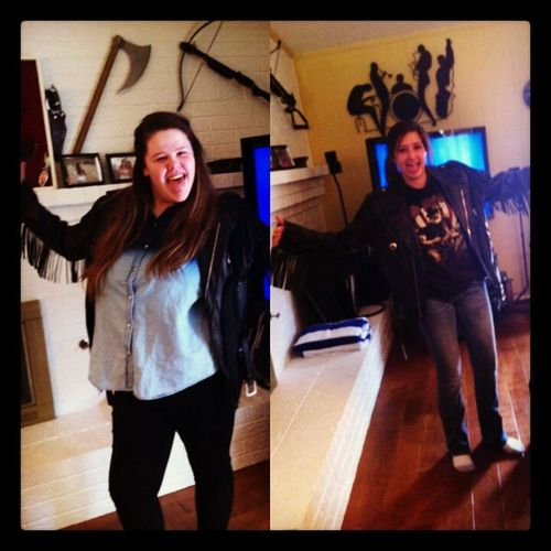 Hell I wore it 100x better! Leatherjacket Bikerjacket Whoworeitbetter Cousins