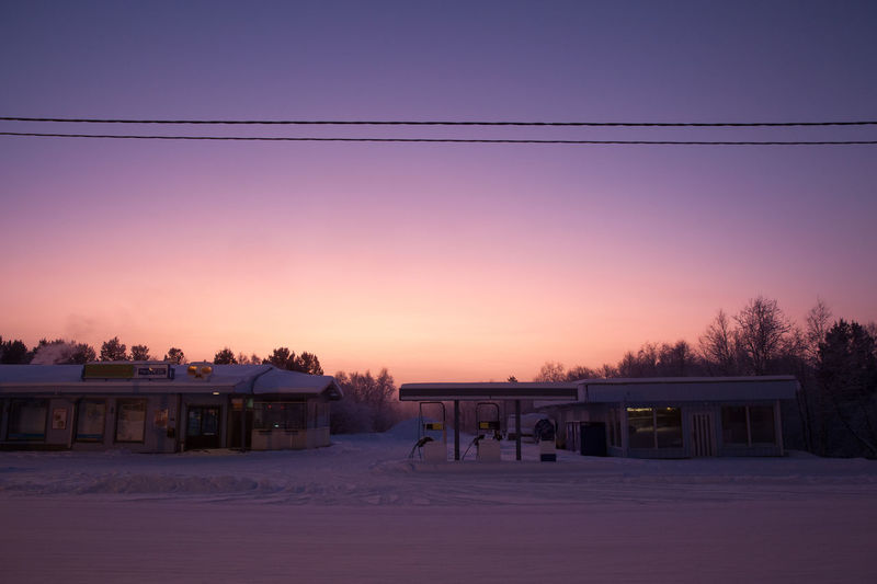 -40 below freezing in the village Arctic Beauty In Nature Cold Dusk Finland Frozen Idyllic Lapland Lapland, Finland Outdoors Polar Night Scenics Sky Sunset Tranquil Scene Tranquility Village Wind Winter