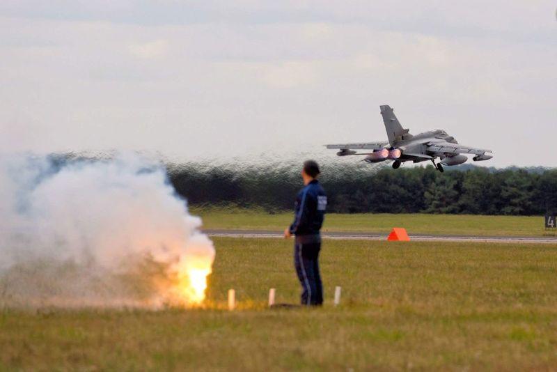 Fighter Jet Tornado Military Afterburner Summer England Royal Air Force Norfolk Flight Runway Flare