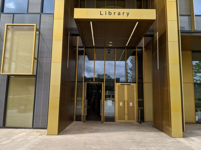 Library University University Campus Building Design Library Building Building New Building  City Modern Yellow Architecture Building Exterior Built Structure