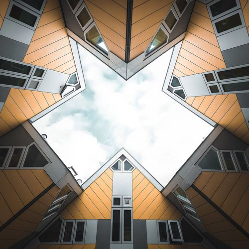 Cubic houses Holland Rotterdam Built Structure Architecture Building Exterior Window Cloud - Sky Low Angle View No People Residential Building Day Outdoors Sky EyeEmNewHere EyeEm Ready   An Eye For Travel The Graphic City