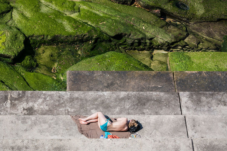 Bondi Beach, Sydney, Australia Australia Beach Beach Life Beautiful Woman Bikini Bondi Bondi Beach Coastline High Angle View Icebergs Ocean Outdoors Relaxing Sea Shore Sleeping Sommergefühle Street Photography Streetphoto_color Streetphotography Summer Summetime Sunbathing Swimsuit Sydney