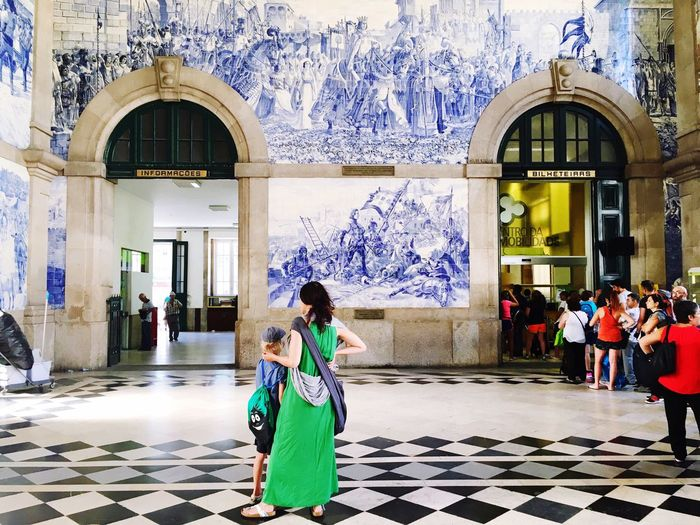 Azulejos ... Architectural Detail Cityscapes Porto São Bento Train Station Greetings From Portugal Urban Geometry Architecture_collection Color Of Life Color Palette Long Goodbye The Portraitist The Portraitist - 2017 EyeEm Awards An Eye For Travel
