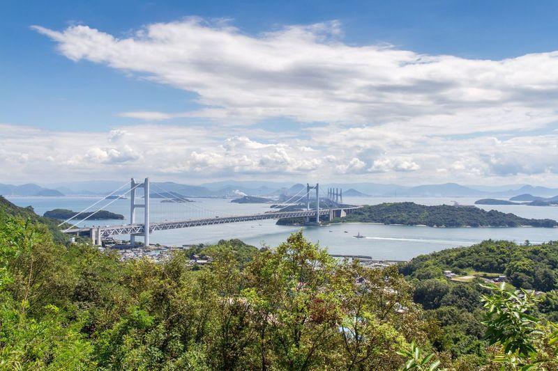Great Seto Bridge Over Sea Against Sky