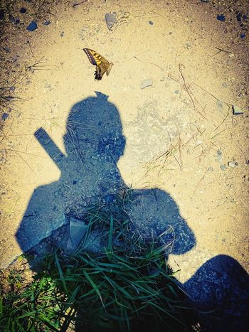 Ninja Sunlight Real People Nature One Person Land Shadow Day Sand Men Outdoors High Angle View Focus On Shadow