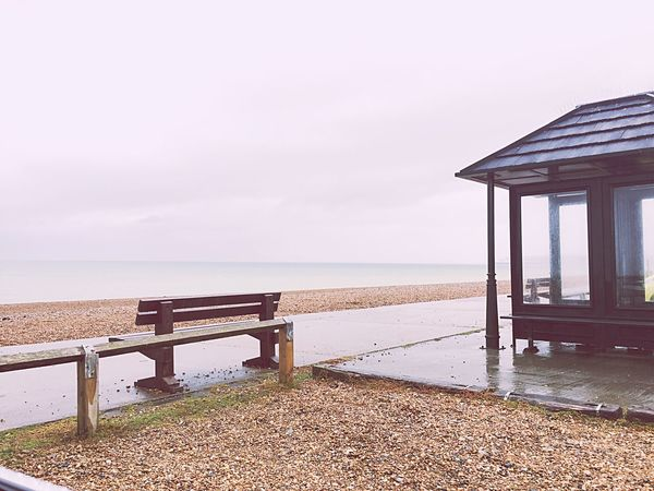 Solitude Sea Horizon Over Water Water Beach Built Structure Nature Sky Tranquility Beauty In Nature Scenics No People Sand Outdoors Wood - Material Architecture Tranquil Scene Day Gazebo Lifeguard Hut Seaford England Brighton Beachy Head