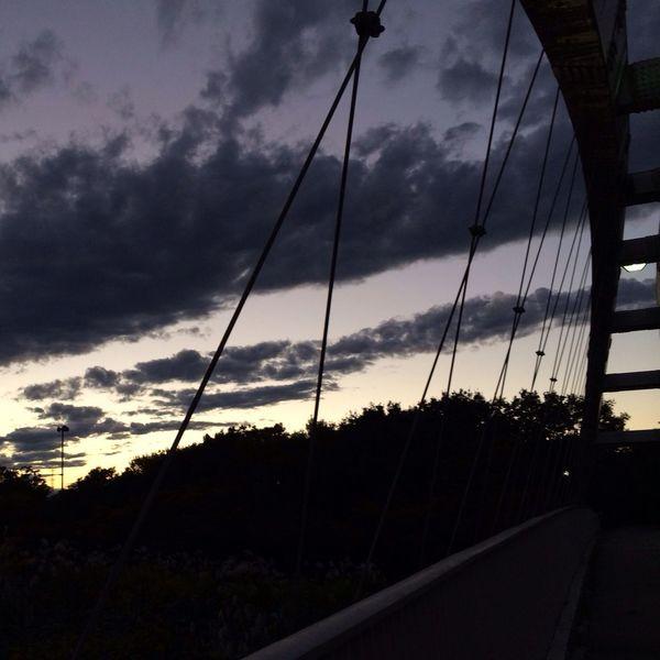 歩道橋からの風景 Sunset View. No Filter