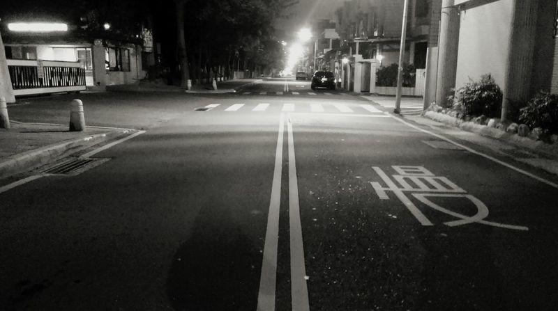 The life road.Enjoying Life Walking Around Good Night Night View Slowly Time