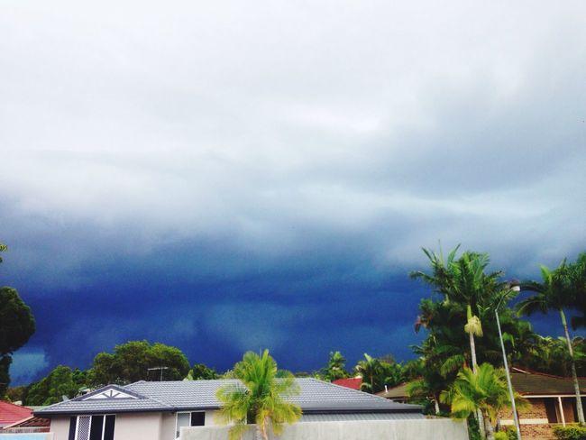 Storm Rain Brisbane #hail Grey Clouds