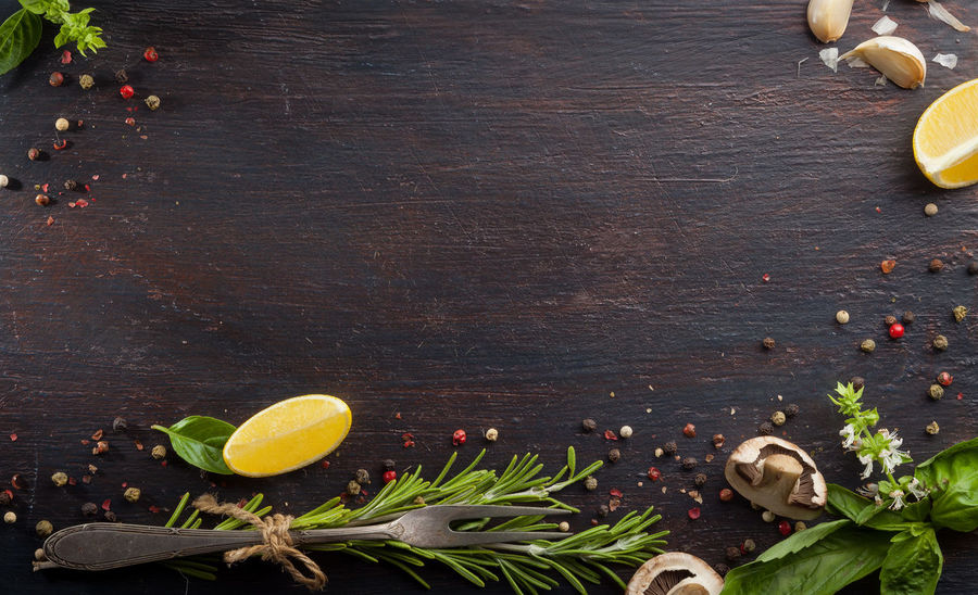 Food And Drink Freshness Vegetarian Food Background Photography Backgrounds Close-up Dark Wood Table Food Food Background Food Backround Food Photography Free Space Leaf Top Of View Top View Vegan Vegetable Wood Background First Eyeem Photo