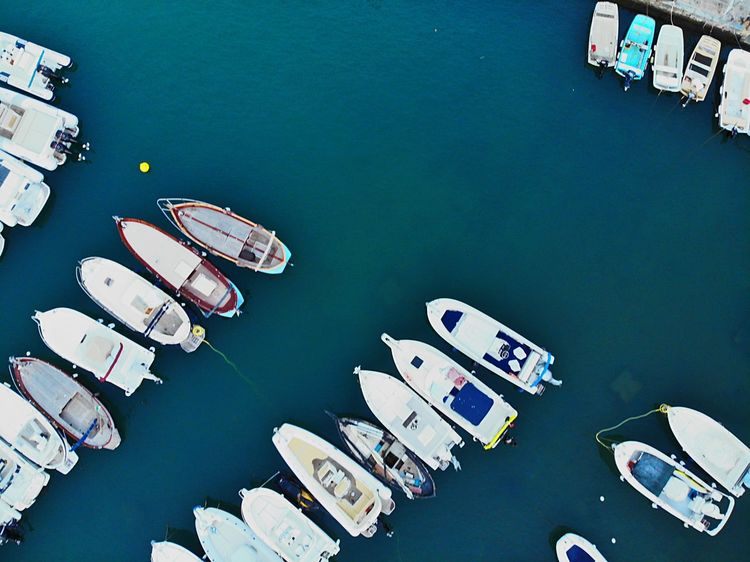 On The Boats Air Toscany Boats High Angle View No People Table Directly Above Still Life Large Group Of Objects Nature Relaxation