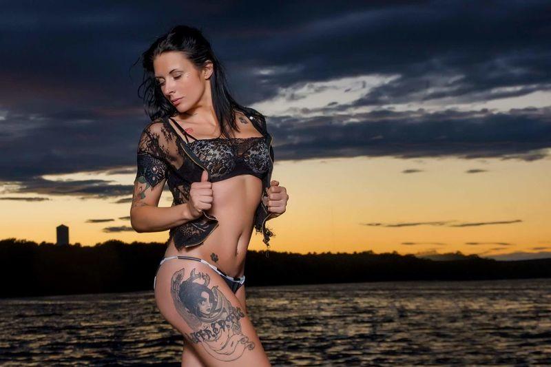 PG Model Amanda EyeEm Selects Young Women Beauty Portrait Sunset Beautiful Woman Sea Beach Beautiful People Women Fashion Dramatic Sky Sand Skin Sandy Beach Tattooing
