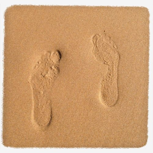 Feet Beach Sand Making Footprints