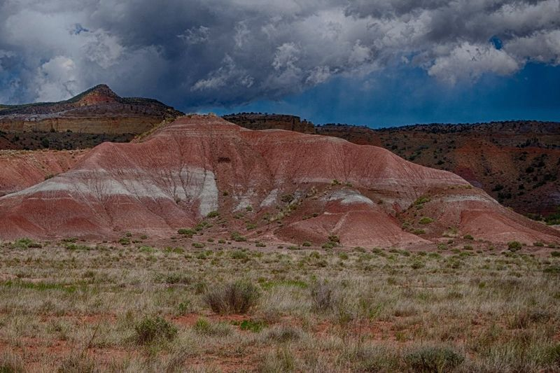 Painted Hill Arid Climate Beauty In Nature Cloud - Sky Day Desert Geology Georgia Okeefe Hurricane - Storm Landscape Mountain Nature No People Outdoors Rock - Object Scenics Sky Travel Destinations