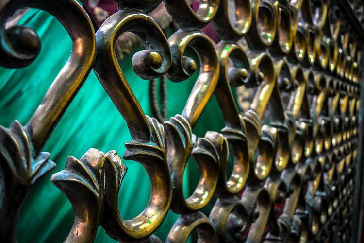 Full frame shot of metallic fence