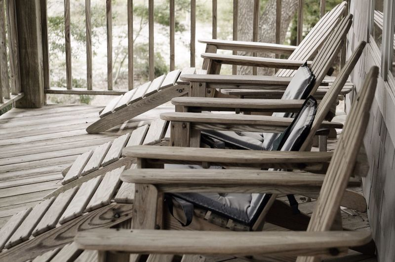 Wood - Material Day Chair Tree No People Close-up Tranquil Scene Outdoors Low Saturation