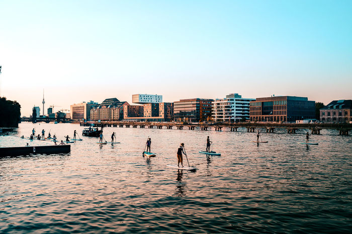 Berlin summer on the Spree Architecture Berliner Ansichten Blue Building Exterior Built Structure Calm City City Life Cityscape Day Outdoors Rippled Sea Seascape Skyline Skyscraper Summer Summer Views Summer ☀ Summertime Urban Skyline Vacations Water Water Surface Capture Berlin