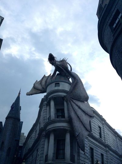 Harrypotter Universal Universal Studios  Harrypotterworld Dragon