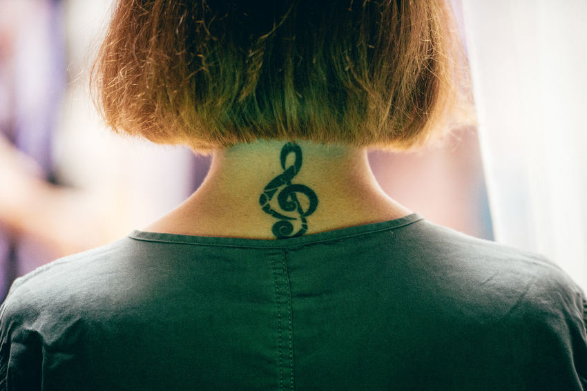 Music Adult Clef Headshot Human Back One Person Real People Rear View Treble Clef