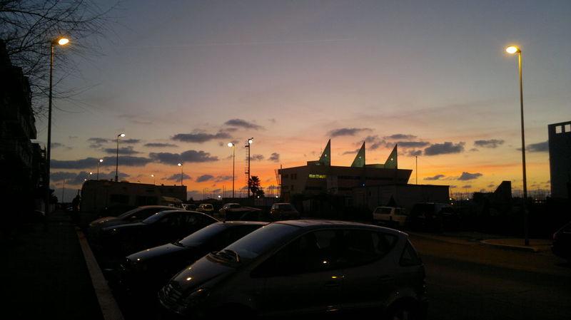 PORTO DI OSTIA Orange Sky Car Land Vehicle Navalport No People Orange Color Sea Sky Street Light Sunset Sunset #sun #clouds #skylovers #sky #nature #beautifulinnature #naturalbeauty #photography #landscape
