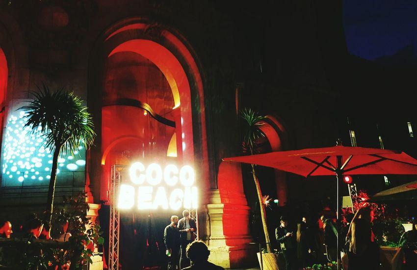 Party Night Illuminated Outdoors City