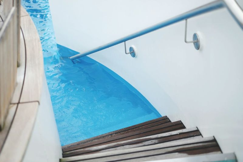 Water on board! Cruise Ship Ship Deck Aida Sol Aida Swimming Pool Water Blue Stairs
