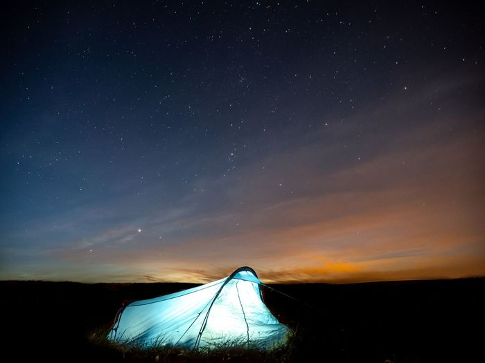 Tent under